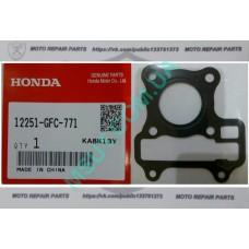 Прокладка головки цилиндра Honda Dio AF 68, Honda Benly, NCH50 Metropolitan (12251-GFC-771). Оригинал!