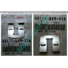 Пластина тормозной скобы рабочего суппорта Honda (43112-MV9-016). Оригинал!