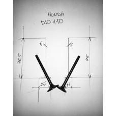 Клапана впуск+выпуск HONDA DIO110 пара (76,5-5-25,5*76-5-21)