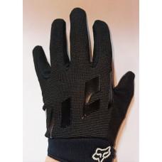Перчатки с пальцами (женская) FOX черные L