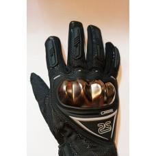Перчатки с пальцами OIZSE хром костяшка M