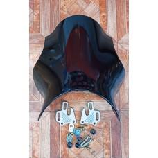 Ветровое стекло HONDA CB400 Оригинал под круглую фару (черная)