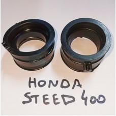 Патрубок карбюратора HONDA STEED 400 (2шт.)
