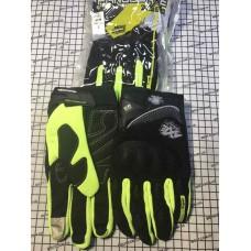 Перчатки с пальцами AXE (ТКАНЬ) ST09 черный,салатовый