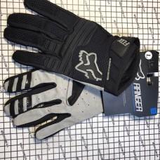 Перчатки с пальцами FOX черные\серые