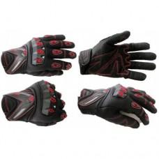Перчатки с пальцами SCOYCO (MC10) цвет: черно-красный XL