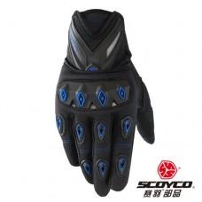 Перчатки с пальцами SCOYCO (MC10) цвет: черно-синий XL