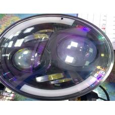 Вставка в фару  МОТО LED (185мм) круглая (7X)