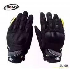 Перчатки с пальцами SUOMY (ткань) SU09 черный. M\L\XL