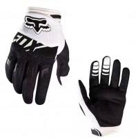 Перчатки с пальцами FOX белые M\L