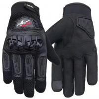 Перчатки с пальцами (КОЖА + вставка) PROBIKER черный XL