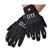 Перчатки с пальцами CITY черные XL