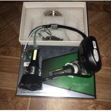 Лампа фары H4 с радиатором  LED с переходниками ПЛАСТИК M:02H