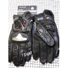 Перчатки с пальцами VEMAR TITANIUM (вставка из металла,КОЖА)