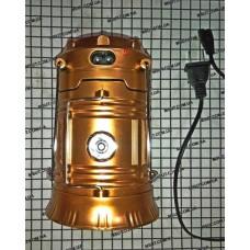 Фонарь/зарядное LED раскладной (золото)