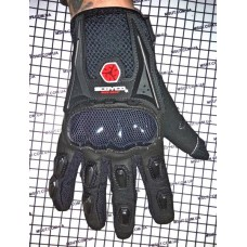 Перчатки с пальцами SCOYCO цвет: ЧЕРНЫЙ карбон