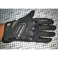 Перчатки с пальцами KOMINE карбон. вставка