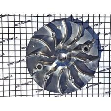 Крыльчатка вариатора  SH -125-150CC отдельно ШИРОКИЙ ШЛИЦ 122мм