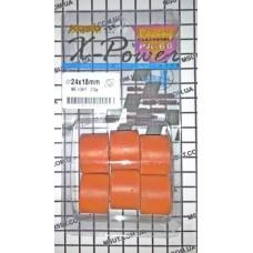 Ролики AN250 (BURGMAN 250cc) - ролики к-т 24*18  23g.