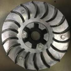 Крыльчатка вариатора алюминевая  JOG50 + крестовинка