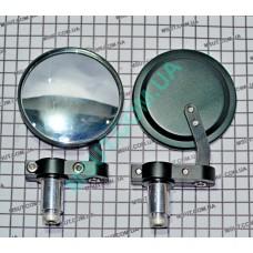 Зеркало Л+П (пара) в РУЧКУ  001  (цвет:красный,синий,золото)