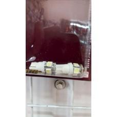 Лампа поворотов СВЕТОДИОДНАЯ  T13 12V (6диодов) бесцокольная белая   (2шт.\к-т)